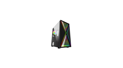 GABINETE GAMER BG-035 PULSE ADVANCED PRETO BLUECASE – S/ FONTE / LED RGB / USB 3.0 / SUPORTE GPU